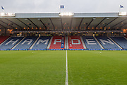 General View of the National Stadium ahead of the Betfred Scottish League Cup Final match between Rangers and Celtic at Hampden Park, Glasgow, United Kingdom on 8 December 2019.