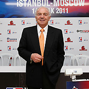 Supervisor Franco FALCINELLI during their Presentation and the weighing ceremony matchday 4 of the World Series of Boxing at Ahmet Comert Arena in Istanbul, Turkey, Thursday, January 13, 2011. Photo by TURKPIX