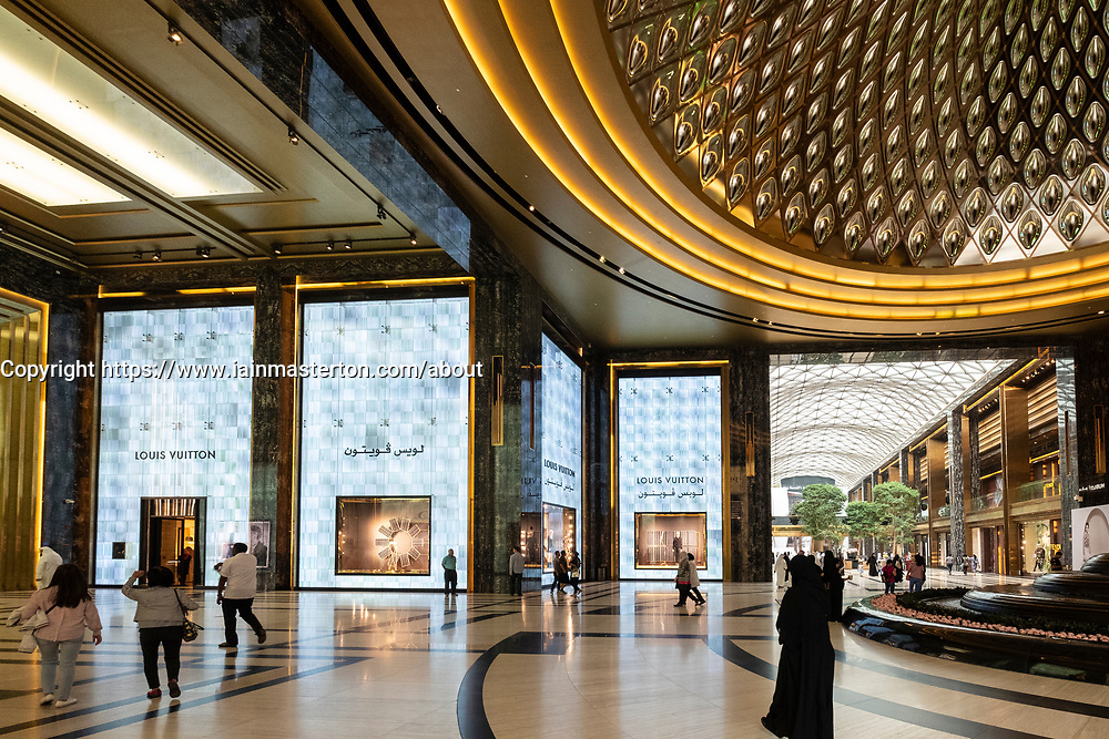 View of luxury boutiques in  the Prestige mall inside The Avenues shopping mall in Kuwait City, Kuwait.