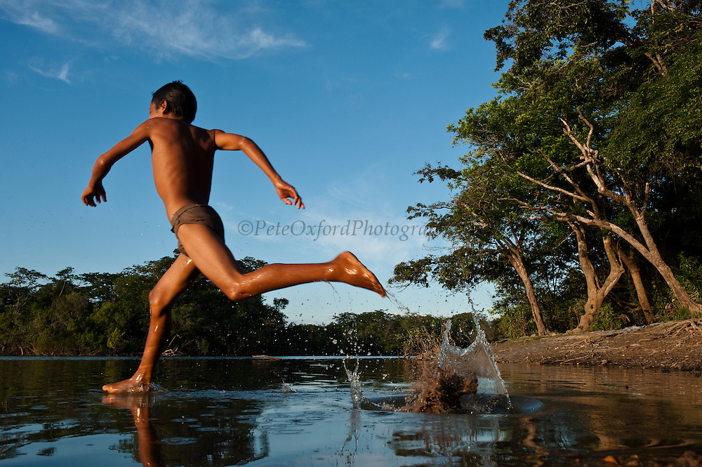 Macushi boy<br /> Yupukari village<br /> Savannah, Rupununi<br /> GUYANA<br /> South America