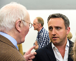 Pictured: Alex Cole-Hamilton listens closely to Menzies Campbell<br /> Scottish Liberal Democrat candidate for Edinburgh West, Christine Jardine launched her campaign today for the Weastminster Parliament. She wase joined by former leader Menzies Campbell, MSP Alex Cole-Hamilton and Scottish Liberal Democrat leader Willie Rennie.<br /> <br /> Ger Harley   EEm 6 May2017