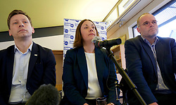 A cross-party group of parliamentarians gathered at the Scottish Poetry Centre in Edinburgh to push the case for a People's Vote. Left to right: John Edward, head of the European Parliament Office in Scotland; Kezia Dugdale Labour MSP; and Andy Wightman, Green MSP. Pic copyright Terry Murden @edinburghelitemedia
