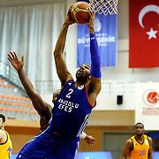 Anadolu Efes's Alex Tyus during their Turkish Basketball Super League match Istanbul BBSK between Anadolu Efes at Cebeci Arena in Istanbul Turkey on Sunday 29 November 2015. Photo by Aykut AKICI/TURKPIX