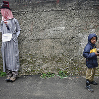 Jewish settlers dressed in costumes take part in the annual parade marking the Jewish holiday of Purim, in the West Bank town of Hebron, February 28, 2010...Photo by Michal Fattal/backyard