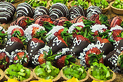 Dessert buffet with chocolate dipped strawberries
