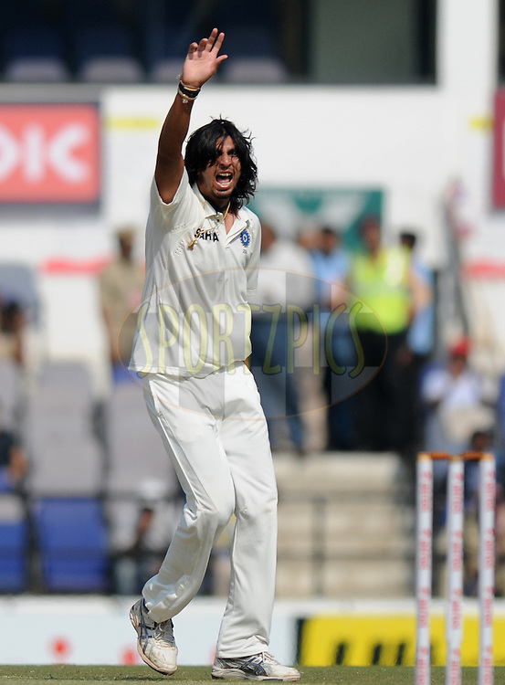 Ishant Sharma of India appeals unsuccessfully for the wicket of Alastair Cook captain of England during day four of the 4th Airtel Test Match between India and England held at VCA ground in Nagpur on the 16th December 2012..Photo by  Pal Pillai/BCCI/SPORTZPICS .