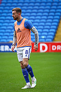 Cardiff City's Joe Ralls (8) during the pre-match warm-up at the EFL Sky Bet Championship match between Cardiff City and Millwall at the Cardiff City Stadium, Cardiff, Wales on 30 January 2021.