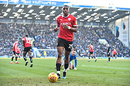 Barnsley Forward, Victor Adeboyejo (29) during the EFL Sky Bet League 1 match between Portsmouth and Barnsley at Fratton Park, Portsmouth, England on 23 February 2019.