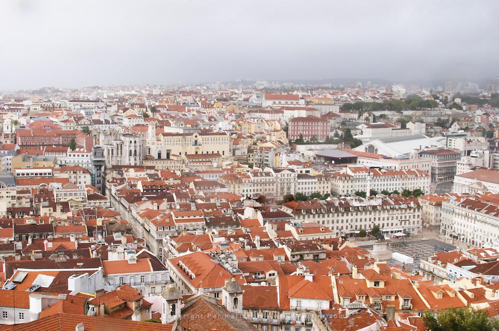 City view. From Castelo de Sao Jorge. Lisbon, Portugal