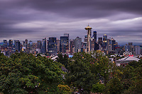Seattle Skyline from Kerry Park, Moody Morning
