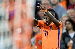 09.06.2017, De Kuip Stadium, Rotterdam, NED, FIFA WM 2018 Qualifikation, Niederlande vs Luxemburg, Gruppe A, im Bild Quincy Promes of Netherlands has scored 4-0 // Quincy Promes of Netherlands has scored 4-0 during the FIFA World Cup 2018, group A qualifying match between Netherlands and Luxemburg at the De Kuip Stadium in Rotterdam, Netherlands on 2017/06/09. EXPA Pictures © 2017, PhotoCredit: EXPA/ Focus Images/ Joep Joseph Leenen<br /> <br /> *****ATTENTION - for AUT, GER, FRA, ITA, SUI, POL, CRO, SLO only*****