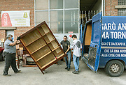 """CAPANNORI, Tuscany, Daccapo,  unloading the van with furniture to be arranged and put up for sale Daccapo means """"from skratch"""" """" from the beginning"""""""
