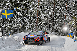 February 15, 2018 - Suede - Thierry Neuville (BEL) – Nicolas Gilsoul (BEL) - Hyundai i20 WRC (Credit Image: © Panoramic via ZUMA Press)