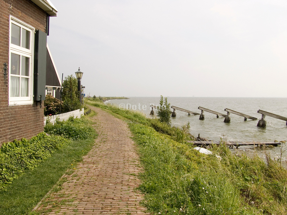 house in Marken Holland on the water edge