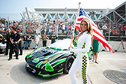 September 2-4, 2011. American Le Mans Series, Baltimore Grand Prix. Grid Girl, 01 Extreme Speed Motorsports, Scott Sharp, Johannes van Overbeek