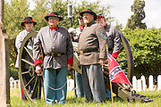 Civil War re-enactors stand by a canon during Confederate Memorial Day events at Magnolia Cemetery April 10, 2014 in Charleston, SC. Confederate Memorial Day honors the approximately 258,000 Confederate soldiers that died in the American Civil War.