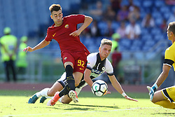 September 23, 2017 - Rome, Italy - Stephan El Shaarawy of Roma scoring the goal of 3-0 during the Italian Serie A football match between AS Roma and Udinese on September 23, 2017 at the Olympic stadium in Rome. (Credit Image: © Matteo Ciambelli/NurPhoto via ZUMA Press)