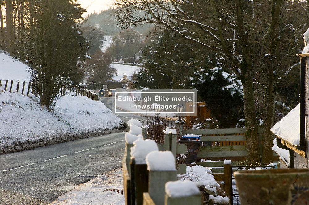 Pictured: Romano Bridge stays open with snow all around.<br /> <br /> <br /> <br /> Ger Harley | EEm 29 December 2017