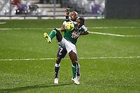 Max Alain Gradel / Jean Daniel Akpa Akpro - 28.02.2015 - Toulouse / Saint Etienne - 27eme journee de Ligue 1 -<br />Photo : Manuel Blondeau / Icon Sport