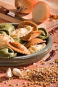 Plate of ravioli pasta