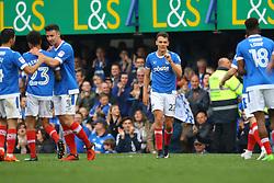 Goal Kal Naismith of Portsmouth scores, Portsmouth 3-0 Cheltenham Town - Mandatory by-line: Jason Brown/JMP - 06/05/2017 - FOOTBALL - Fratton Park - Portsmouth, England - Portsmouth v Cheltenham Town - Sky Bet League Two