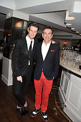 Left to right, MATT SMITH and PAUL ROSEBY Artistic Director of the National Youth Theatre at Shepherd's Delight an evening of Dinner & Entertainment in aid of The National Youth Theatre of Great Britain held at Shepherd's, Marsham Street, London on3rd December 2012.