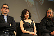 l to r: John Tutturo, Rosie Perez and Ernest Dickerson at The ImageNation celebration for the 20th Anniversary of ' Do the Right Thing' held Lincoln Center Walter Reade Theater on February 26, 2009 in New York City. ..Founded in 1997 by Moikgantsi Kgama, who shares executive duties with her husband, Event Producer Gregory Gates, ImageNation distinguishes itself by screening works that highlight and empower people from the African Diaspora.