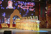 Traditional Chinese dance troop performing