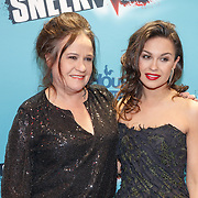 NLD/Amsterdam/20160118 - Premiere Sneekweek, Xandra Brood met dochter Holly Brood