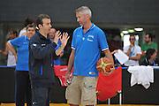 DESCRIZIONE : Trento Primo Trentino Basket Cup Nazionale Italia Maschile <br /> GIOCATORE : Simone Pianigiani Riccardo Pittis<br /> CATEGORIA : allenamento<br /> SQUADRA : Nazionale Italia <br /> EVENTO :  Trento Primo Trentino Basket Cup<br /> GARA : Allenamento<br /> DATA : 25/07/2012 <br /> SPORT : Pallacanestro<br /> AUTORE : Agenzia Ciamillo-Castoria/M.Gregolin<br /> Galleria : FIP Nazionali 2012<br /> Fotonotizia : Trento Primo Trentino Basket Cup Nazionale Italia Maschile<br /> Predefinita :