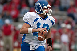 12 November 2005: Sycamore QuarterBack Blayne Baggett. Illinois State Redbirds topple the Indiana State Sycamore 70-28 at Hancock Stadium in Normal Illinois