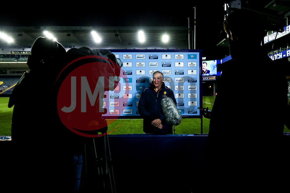 Worcester Warriors director of rugby Alan Solomons is interviewed after victory over Saracens - Mandatory by-line: Robbie Stephenson/JMP - 30/09/2020 - RUGBY - Sixways Stadium - Worcester, England - Worcester Warriors v Saracens - Gallagher Premiership Rugby