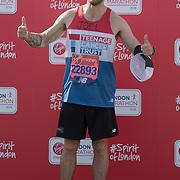 Joel Dommett at London Marathon 2018 on 22 April 2018, Blackhealth, London, UK.