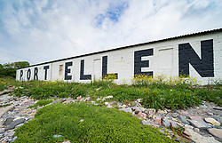 View of Port Ellen Distillery on island of Islay in Inner Hebrides of Scotland, UK