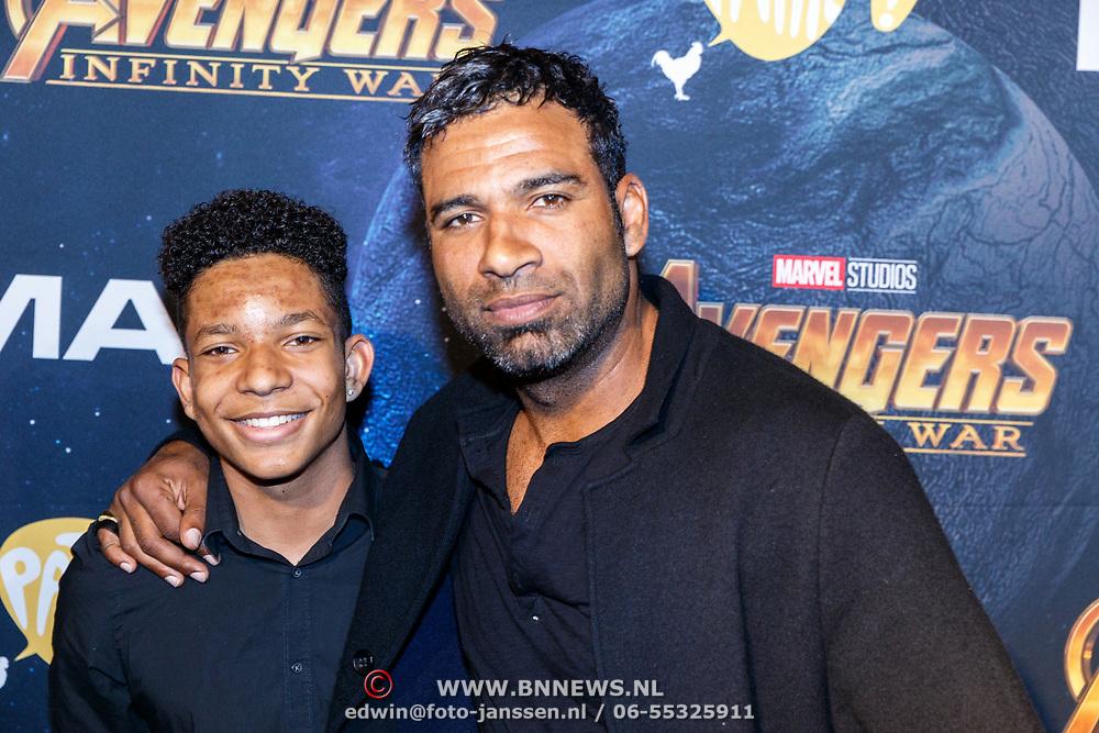 NLD/Amsterdam/20180425 - Première The Avengers: Infinity War, edwin Jonker en zoon