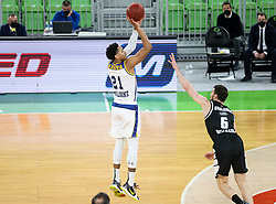 Brown  Anthony of Boulogne Metropolitans 92 during basketball match between KK Partizan NIS Belgrade (SRB) and Boulogne Metropolitans 92 (FRA) in Top 16 Round 6 of 7DAYS Eurocup 2020/21, on March 10, 2021 in Arena Stozice, Ljubljana, Slovenia. Photo by Vid Ponikvar / Sportida