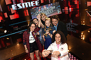 Finale The Voice Kids 2016 in Stdio 21, Hilversum.<br /> <br /> Op de foto:  Esmee Schreurs , winnares The Voice Kids met haar coach Ilse de Lange , Imani met coach Ali B en Selenay met coach Marco Borsato