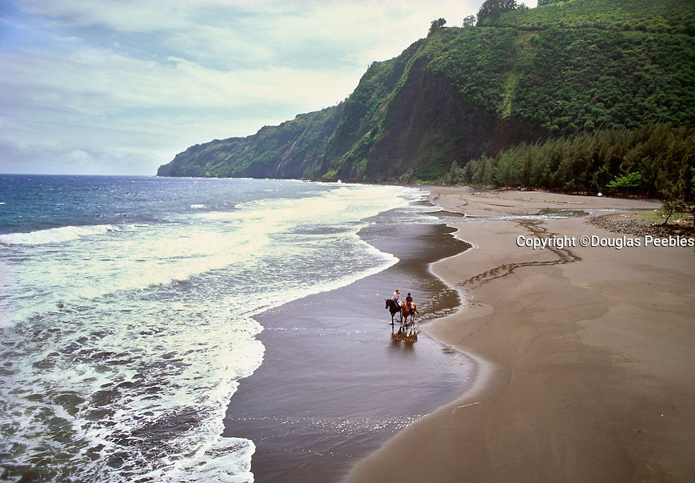 Horseback riding, Waipio Valley, Island of Hawaii