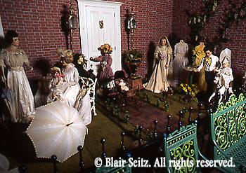 Victorian garden scene, Merritt's Museum of Childhood, Douglassville, Berks Co., PA