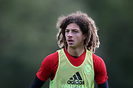 Ethan Ampadu of Wales looks on during the Wales football team training at the Vale Resort, Hensol , South Wales on Monday 2nd October 2017, the team are preparing for their FIFA World Cup qualifier away to Georgia this week. pic by Andrew Orchard, Andrew Orchard sports photography