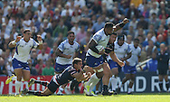 Samoa Joe Tekori  at full pace during the Rugby World Cup 2015 match between Samoa and USA at the Brighton Community Stadium, Falmer, United Kingdom on 20 September 2015.