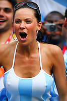Fotball , VM 2006 , fan fans illustrasjon<br /> World Cup 2006   <br /> Fan Argentinien<br /> Fussball WM 2006 Achtelfinale  Argentinien - Mexiko 2:1