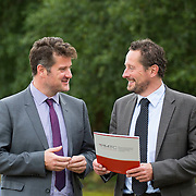 28/08/2015             <br /> Pharmaceutical Manufacturing Technology Centre (PMTC) Knowledge day at the Kemmy Business School, University of Limerick.    <br />  Pictured at the event were, Dr. Chris Eldin, Director PMTC and Prof. Gavin Walker, Bernal Chair of Pharmaceutical Powder Eng. Picture: Alan Place