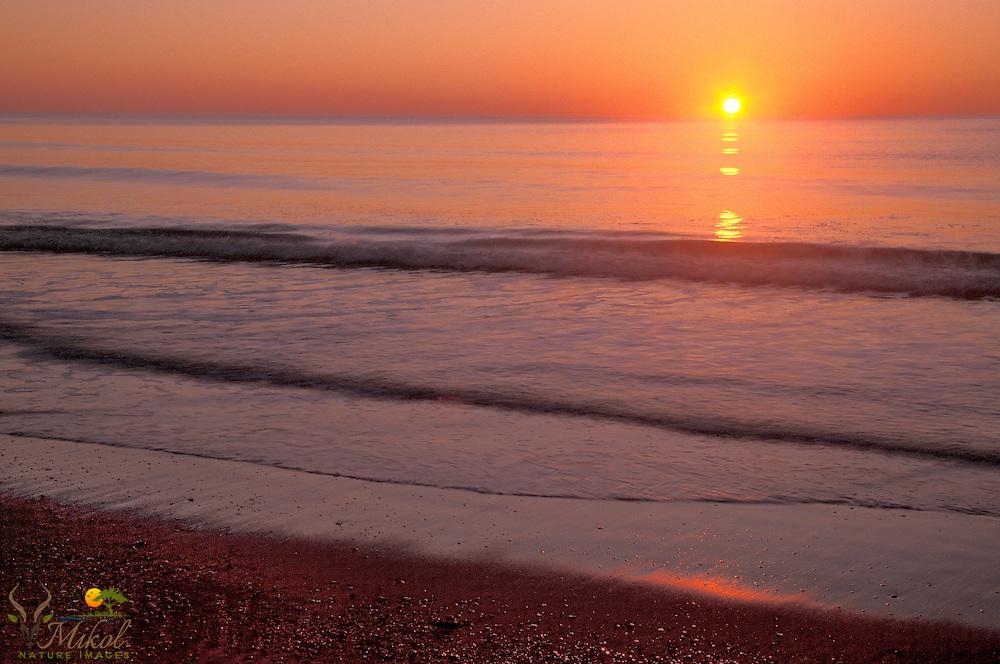 Sunrise above the calm ocean, SC