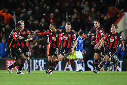 Goal, Junior Stanislas of Bournemouth scores the equaliser, Bournemouth 3-3 Everton - Mandatory by-line: Jason Brown/JMP - Mobile 07966 386802 28/11/2015 - SPORT - FOOTBALL - Bournemouth, Vitality Stadium - AFC Bournemouth v Everton - Barclays Premier League