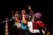 "Zapatists leaving the squat ""La Parole errante"" after the convention."