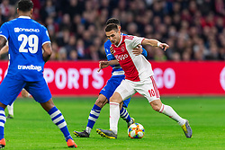 13-03-2019 NED: Ajax - PEC Zwolle, Amsterdam<br /> Ajax has booked an oppressive victory over PEC Zwolle without entertaining the public 2-1 / Younes Namli #21 of PEC Zwolle, Dusan Tadic #10 of Ajax