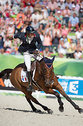 Maxime Livio, (FRA), Qalao Des Mers - Jumping Eventing - Alltech FEI World Equestrian Games™ 2014 - Normandy, France.<br /> © Hippo Foto Team - Jon Stroud<br /> 31-08-14