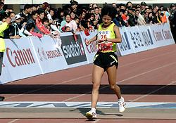 21-10-2007 ATLETIEK: ANA BEIJING MARATHON: BEIJING CHINA<br /> De Beijing Olympic Marathon Experience georganiseerd door NOC NSF en ATP is een groot succes geworden / Zhang Yingying CHI werd 2de<br /> ©2007-WWW.FOTOHOOGENDOORN.NL
