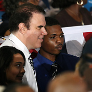 Congressman Alan Grayson poses with supporters prior to President Barack Obamals Grassroots event at the Kissimmee Civic Center in Kissimmee, Florida on Saturday, September 8, 2012. (AP Photo/Alex Menendez)